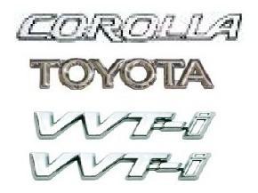 kit emblemas toyota corolla vvti corolla 2003 em diante
