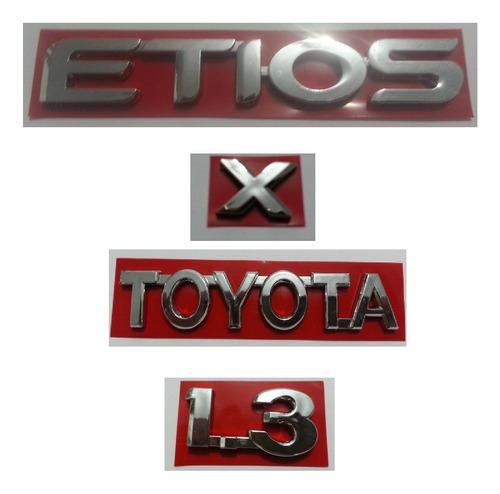 kit emblemas toyota etios x 1.3