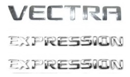 kit emblemas vectra 2 expression de 2006 + brinde
