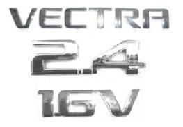 kit emblemas vectra 2.4 16v a partir de 2006 + brinde