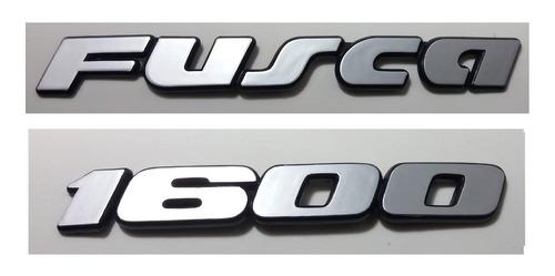 kit emblemas volkswagen fusca 1600 90 91 92 93 à 97 + brinde