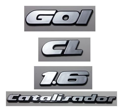 kit emblemas volkswagen gol cl 1.6 catalisador 90/97 brinde