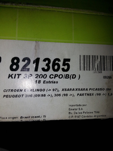 kit embrague peugeot 206 diesel