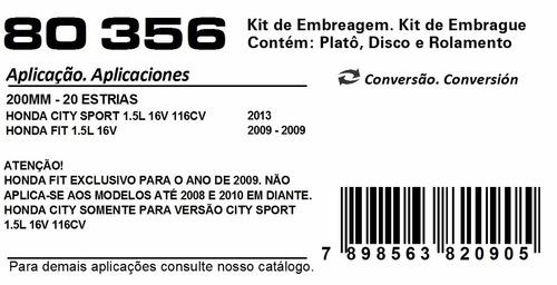 kit embreagem honda fit 1.5l ano 2009