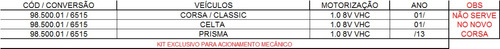 kit embreagem original corsa celta prisma 1.0 98500213