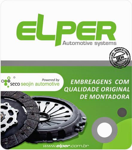 kit embreagem vw gol 1.0 / 0.8 16v 1997/2006 elper