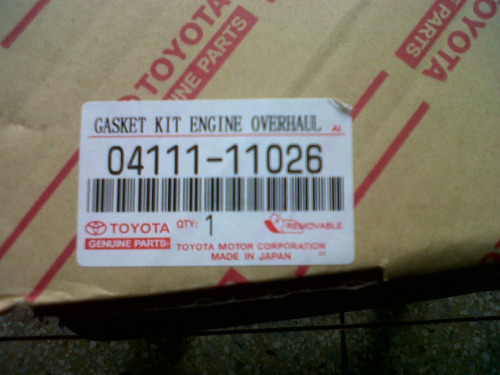 kit empacaduras original toyota starlet/tercel/corolla 91-04