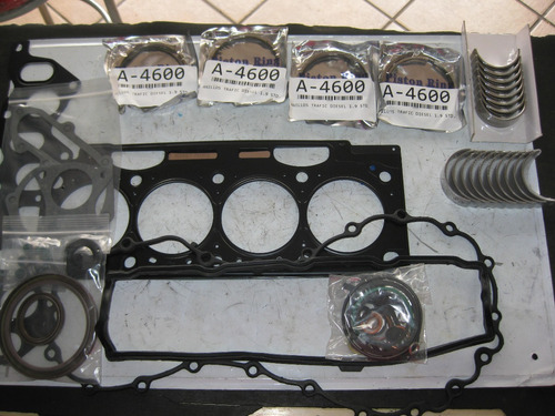 kit empaques anillos metales biela y centro trafic diesel