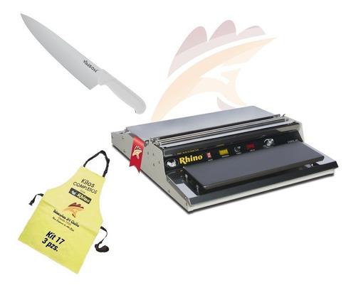 kit emplayadora mandil y cuchillo rhino empa-45 3x1 gallo
