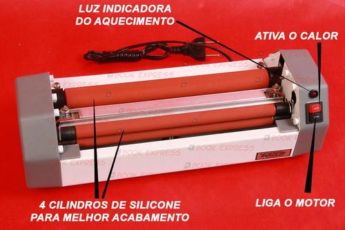 kit encadernadora, guilhotina, plastificadora + frete grátis
