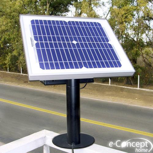 kit energético solar : panel + soporte + lampara + bateria