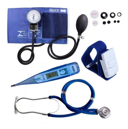 kit enfermagem acadêmico esfigmomanômetro rappaport garrote