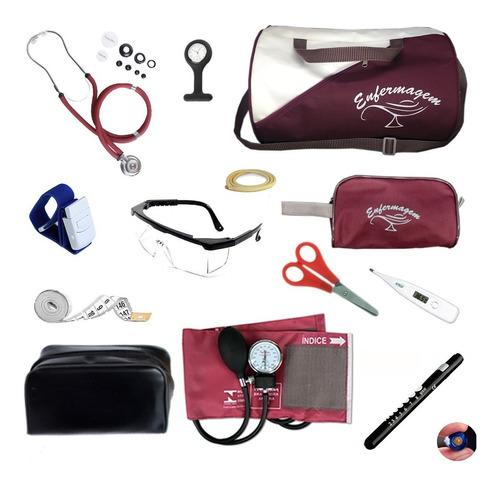 kit enfermagem completo com aparelho de medir pressão