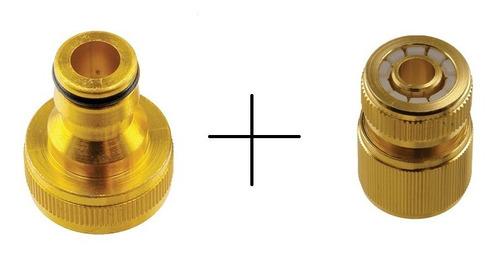 kit engate rápido de alumínio + bico para engate rápido bron