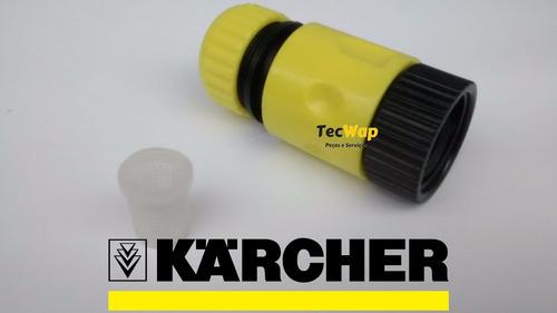 kit engate rapido + filtro agua lava jato pressão karcher