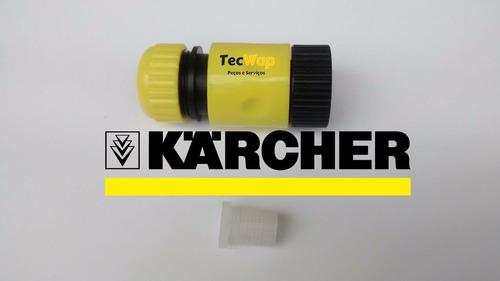 kit engate rapido +filtro lava jato karcher 310,320 original