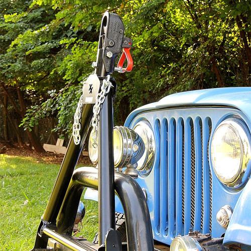 kit engate towbar cambão de reboque - jeep - buggy