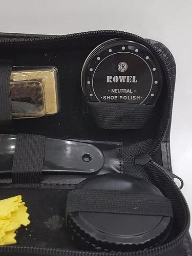 kit engraxar sapatos, sapatilhas, bolsas com estojo viagem