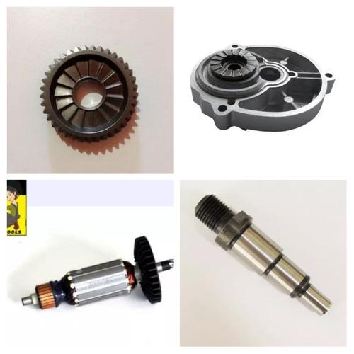 kit engrenagem + tampa + eixo + rotor furadeira hp1630
