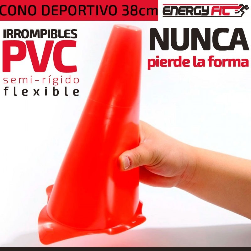 594da072bd112 kit entrenamiento futbol 6 conos pvc 38cm + 6 conos pvc 23cm. Cargando zoom.