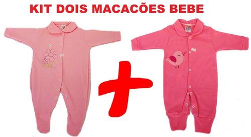 kit enxoval de bebe menina 2 macacões importado de qualidade