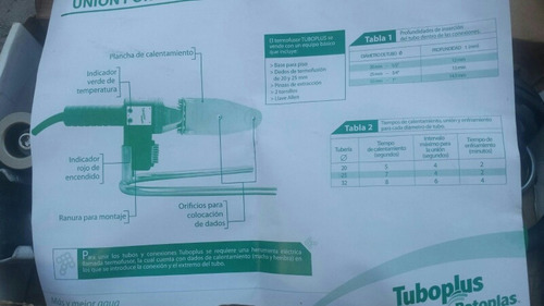 kit equipo de termo fusión rotoplas