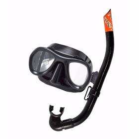 Kit Equipo Máscara Y Snorkel Profesional Tusa Uc-2112