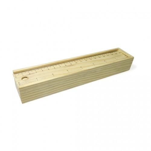 kit  escolar #1 caja en madera incluye 12 colores borrador