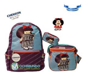 fb6ae55af13a23 Kit Escolar Chenson Mafalda . Mochila+ Lapicera + Lonchera
