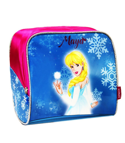 kit escolar infantil mochila princesa do gelo pronta entrega
