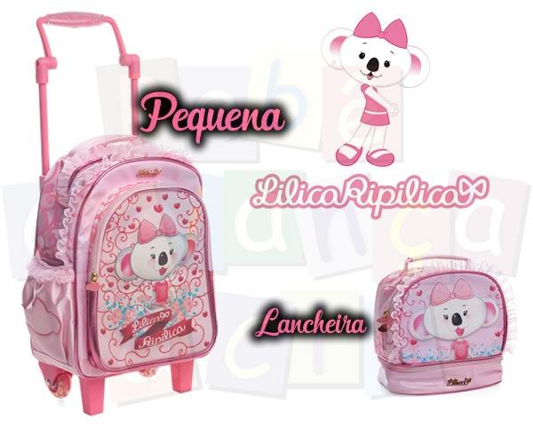 cf680aeb4 Kit Escolar Lilica Ripilica Mochila Rod. Led Peq+lanch Rosa - R$ 259,00 em  Mercado Livre