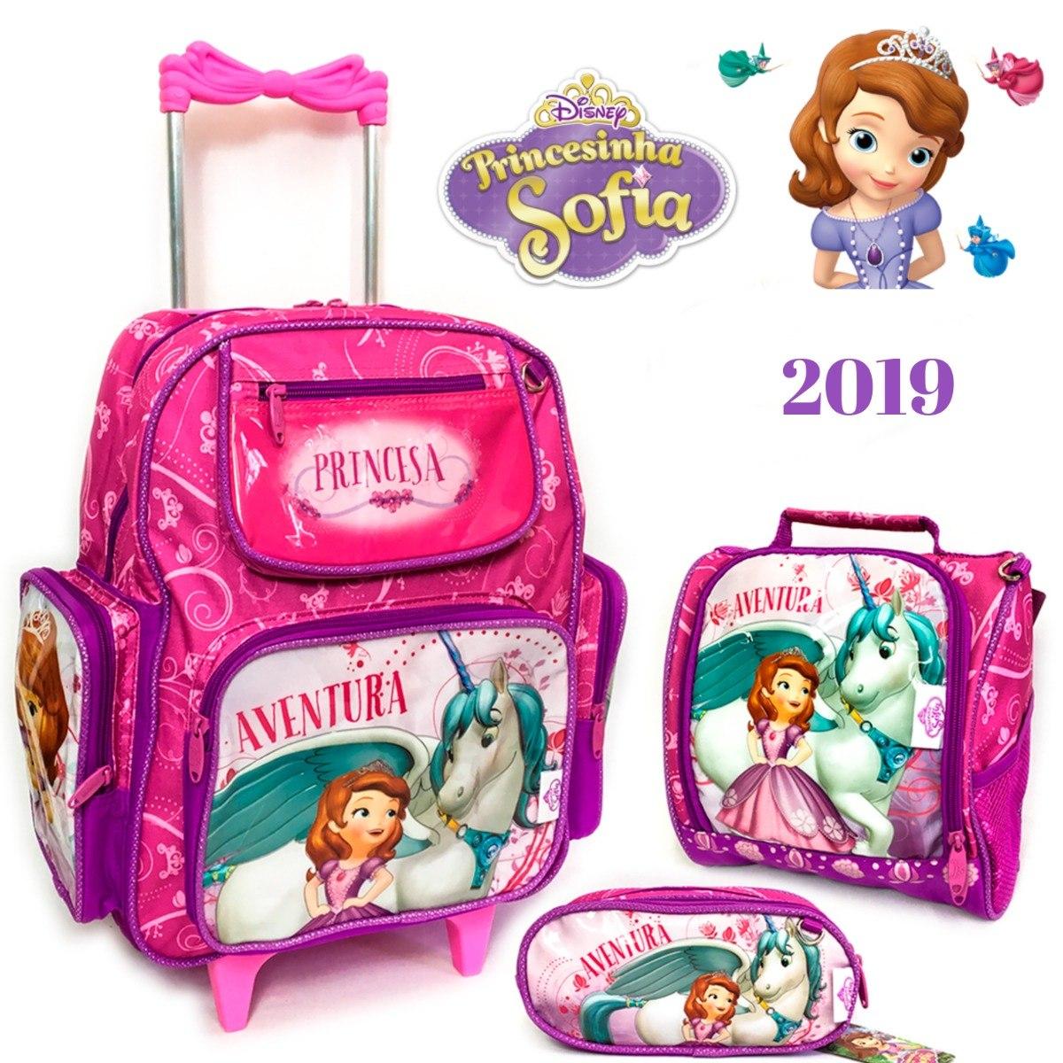 f3133c01e kit escolar menina princesa sofia mochila lancheira estojo. Carregando zoom.