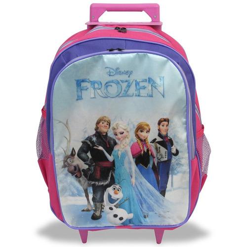 kit escolar mochila frozen tamanho g + avental e brindes!!!