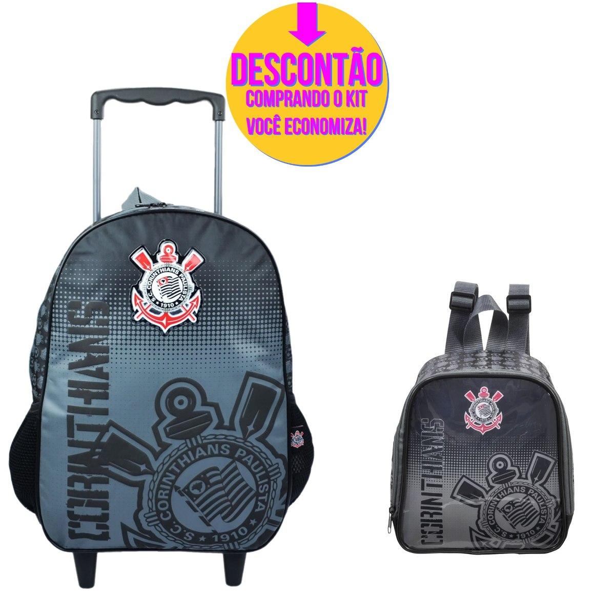 81c1ae2b2 Kit Escolar Mochila Rodinha Corinthians - 586cor - R$ 249,14 em ...