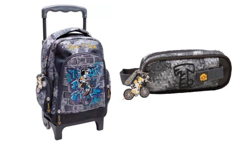 b862c7912a kit escolar mochila rodinha estojo tigor t tigre tamanho peq. Carregando  zoom.
