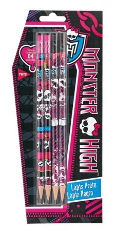 kit escolar monster high - 06 peças $ c