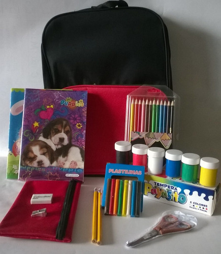 kit  escolar  preescolar incluye útiles
