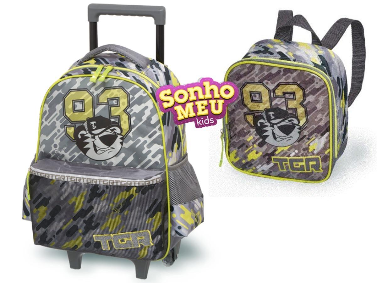 08b6feaf99 kit escolar tigor t tigre mochila e lancheira original. Carregando zoom.