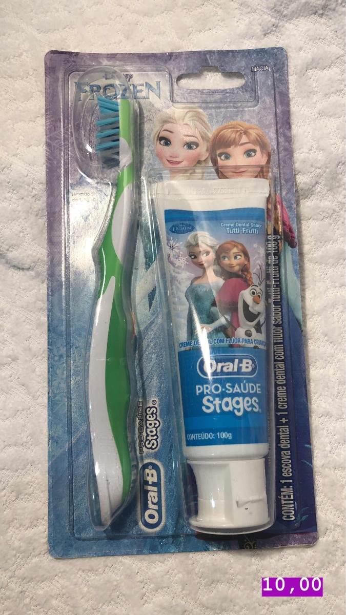kit escova + creme dental oral-b pró saúde stages. Carregando zoom. 0211c559d62d