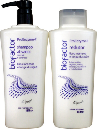 kit escova progressiva proenzyme-f biofactor- by doctor hair