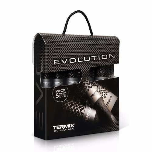 kit escovas de cabelo termix evolution caixa (5 escovas)