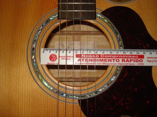 kit escudo + redutor  boca 9,8 cm violão folk