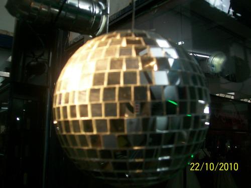 kit esfera 40 cm;motor;pinspot par 36 completo