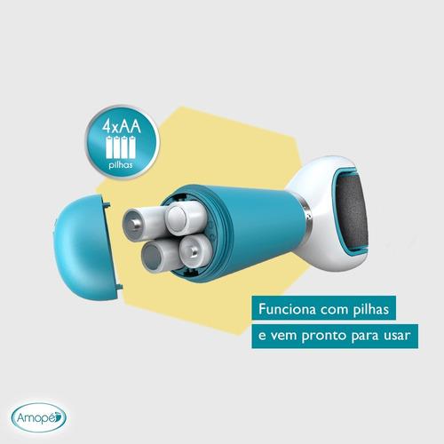 kit esfoliador eletronico amopé + lixa rotativas refil 2un