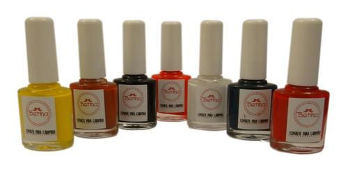 kit esmalte para placas e carimbo de unhas betina   6 cores