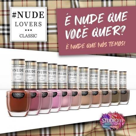 kit esmaltes studio 35 coleção nude lovers classic 11 cores