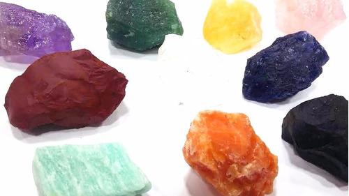 kit esotérico pedras brutas do chakras/10 cristais+apostila