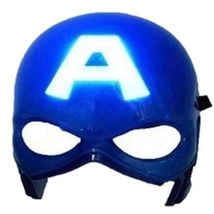 kit  - espada  + escudo + máscara com luz do capitão america