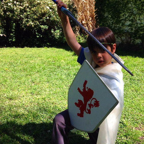 kit espada escudo rey caballero medieval juguete madera