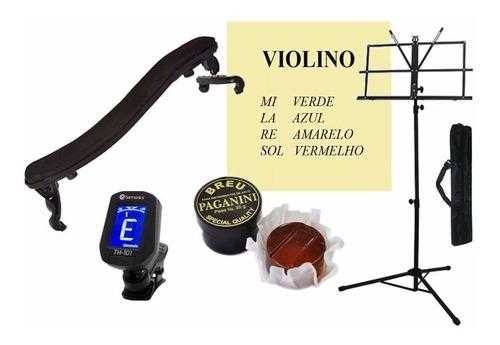 kit espaleira+ encordoamento m calixto+ estante+ breu+afinad